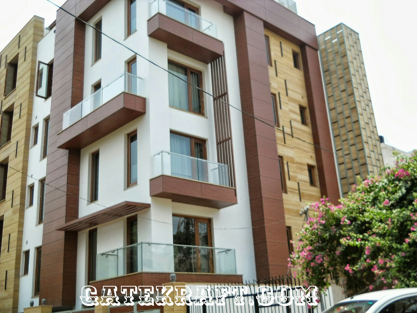 Front Elevation Of House In Gurgaon : High pressure laminate hpl front elevation cladding