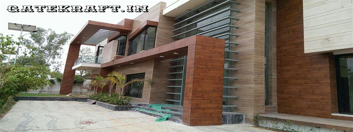 Front Elevation Cladding Design : High pressure laminate hpl front elevation cladding